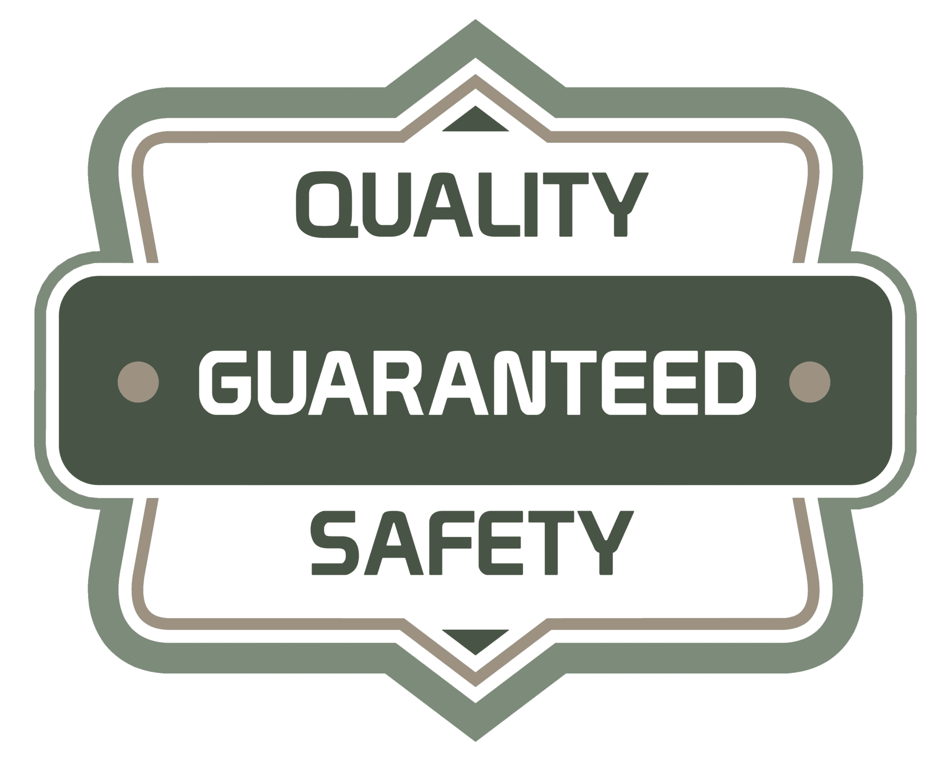 quality guaranteed safety badge